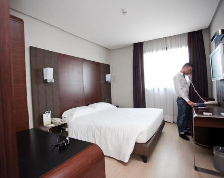 Goldemile Milan Hotel rooms are available in various types and equipped with every comfort