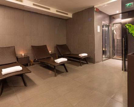 Hotel Goldenmile Milan, comfortable 4 stars on the outskirts of Milan, has a wellness area in which to enjoy pleasant moments of relaxation.