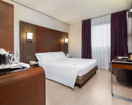 Discover the comfort of our rooms: book Hotel Goldenmile Milan, comfortable 4-star on the outskirts of Milan!
